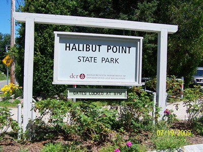 halibut point state park sign
