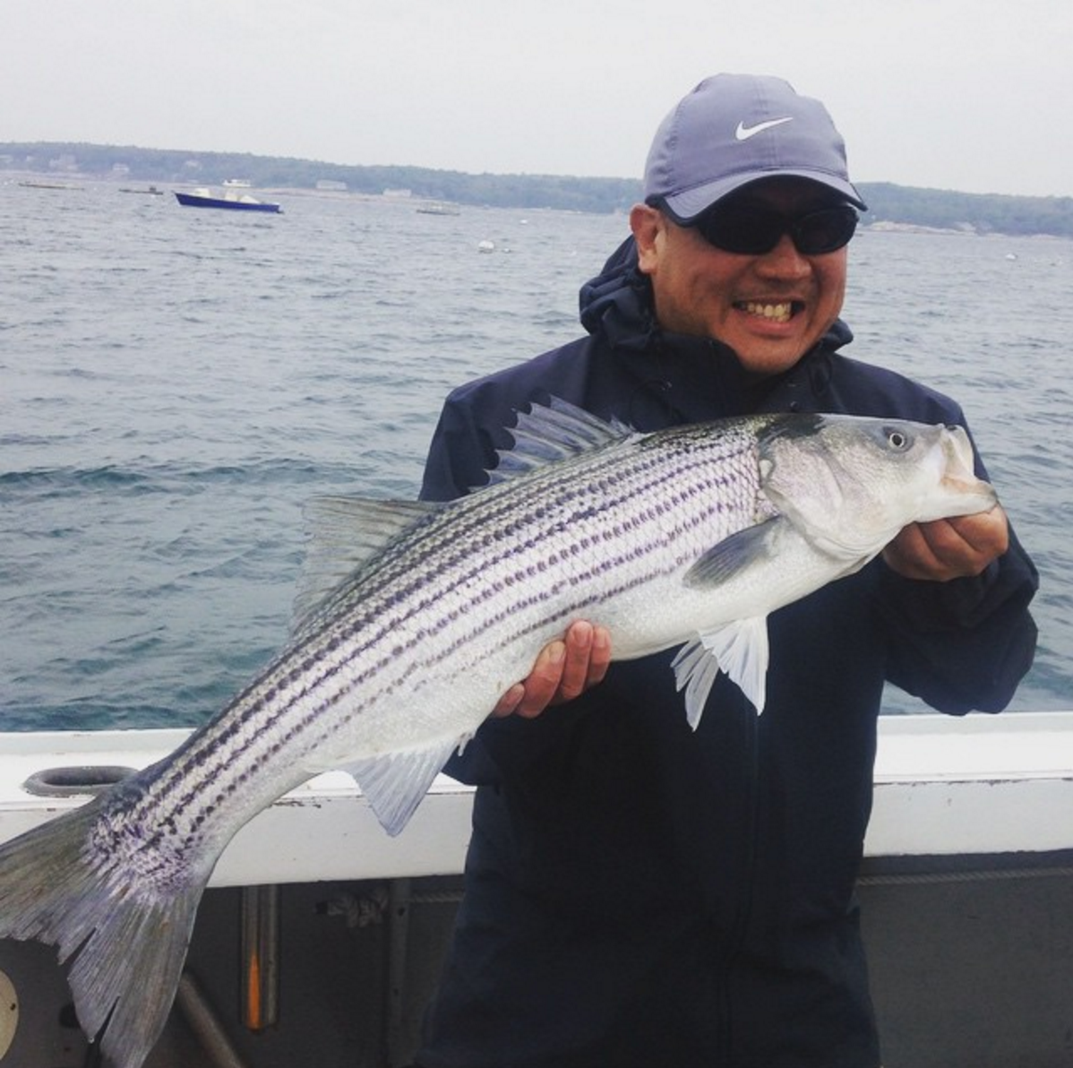 Striped bass fishing charters gloucester ma connemara bay for Bass fishing trips