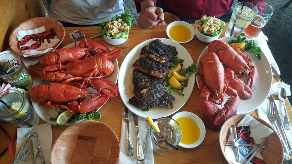Charter Fishing Seafood Dinner