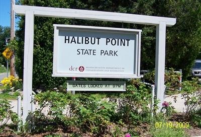 halibut point state park sign
